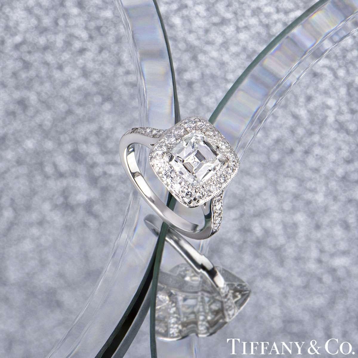 Tiffany & Co. Platinum Legacy Diamond Ring 1.54ct H/VS2